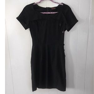 Folter Black Pin-up/Retro/Rockabilly Wiggle Dress